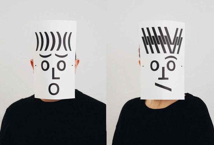 Typographic masks, 2020 2