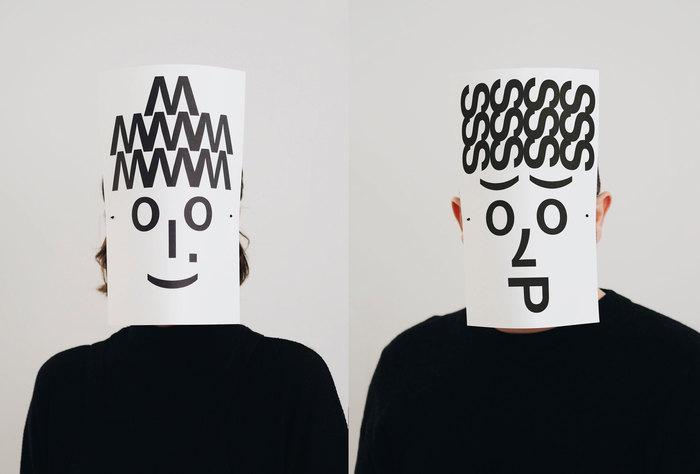 Typographic masks, 2020 3