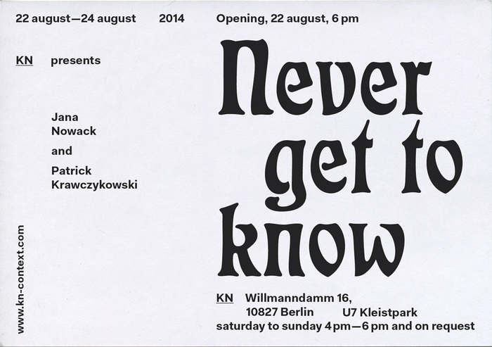 Never get to know flyer (back) ft. Otto Eckmann's  (1900).