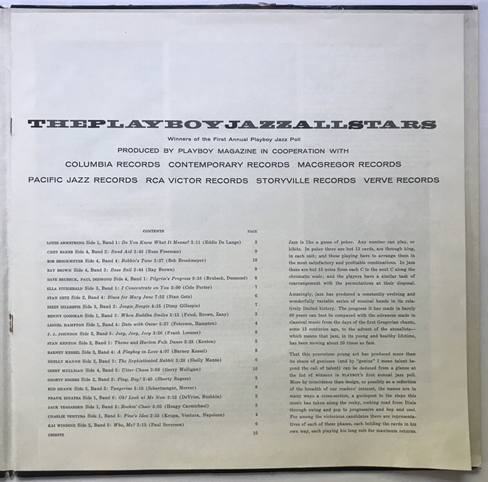 The liner notes were not the usual insert but bound into the record cover like a gatefold.