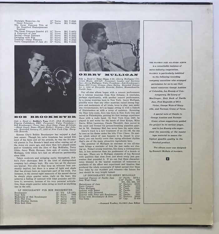 The last page lists the credits for the production, as well as the design credit for Emmett McBain of Playboy.