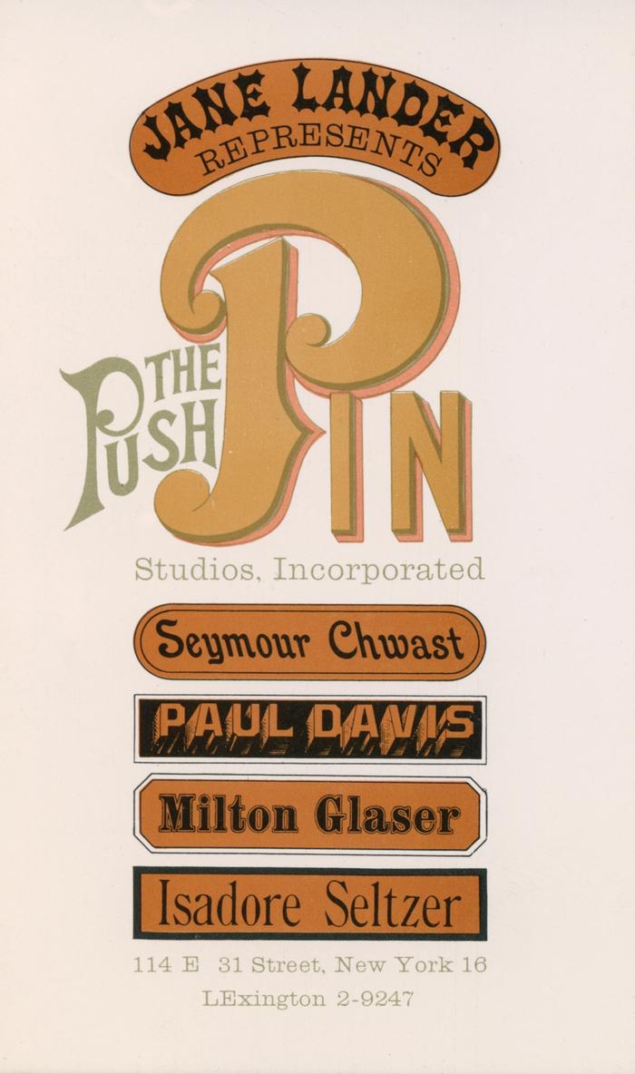 The Push Pin Studios promo card