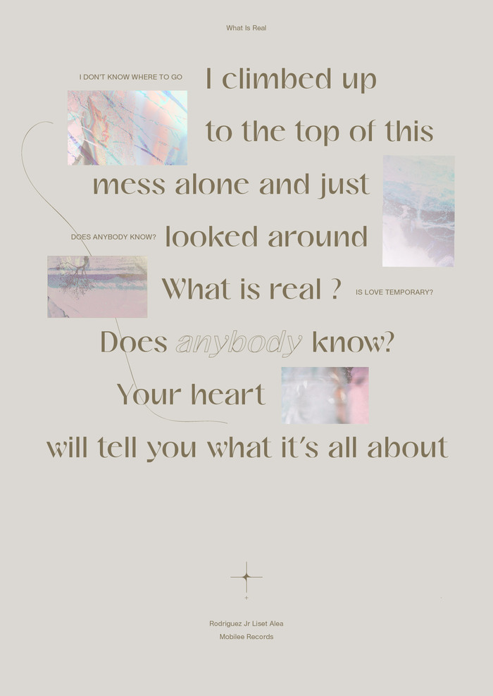 """""""What is Real?"""" poster"""