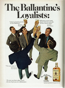 """The Ballantine's Loyalists"" ad (1970)"