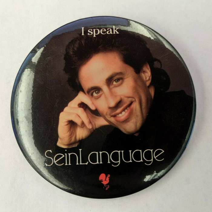 Promotional pinback button.
