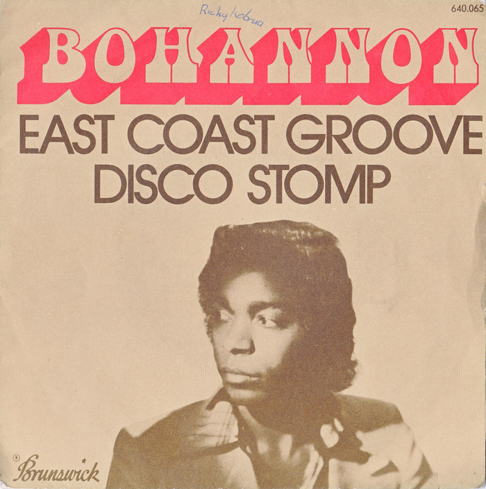 "Bohannon – ""East Coast Groove"" / ""Disco Stomp"" single cover"