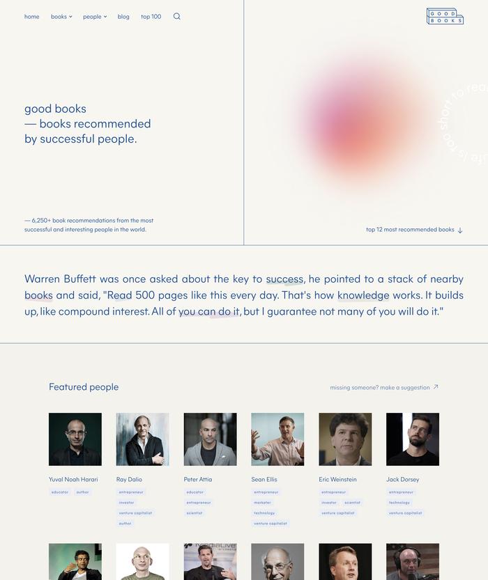 Good Books website 1