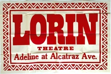 Lorin Theatre broadside