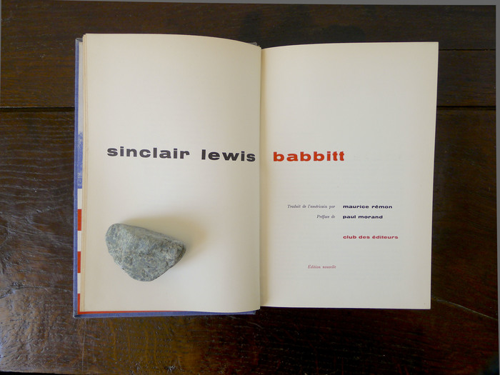 Babbitt by Sinclair Lewis (Club des Éditeurs) 2