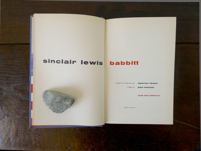 Babbitt by Sinclair Lewis, Club des Éditeurs 2