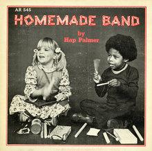 Hap Palmer – <cite>Homemade Band</cite> album art
