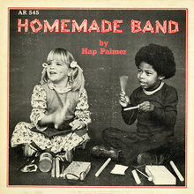 Hap Palmer – <cite>Homemade Band</cite> album art