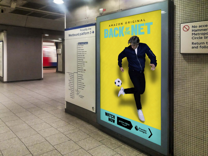 Animated advertising screen