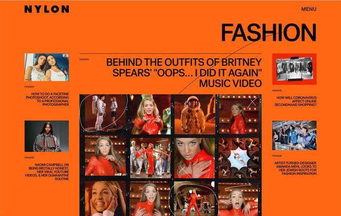 Nylon magazine website 5