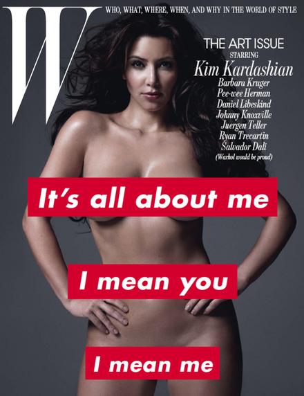 Barbara Kruger & Kim Kardashian on <cite>W</cite>