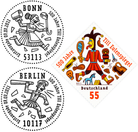 German Stamps by Henning Wagenbreth