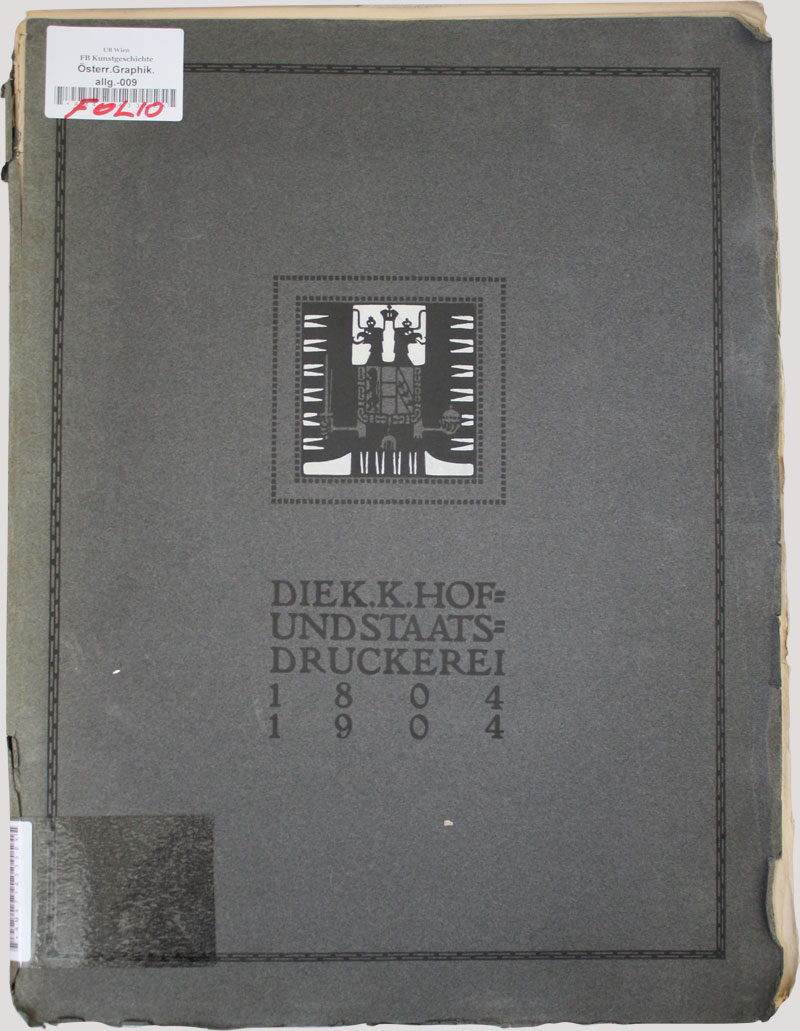 Soft cover of the anniversary publication. More than 1,700 copies were printed. Only a small number of them was bound in leather.