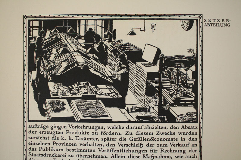 The woodcut illustrations were done by Carl Otto Czeschka.
