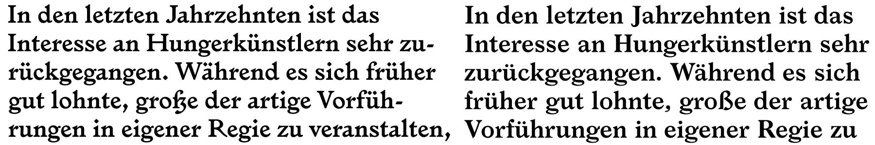Left: Larish Alte. Right: Larish Neue