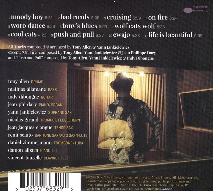The back cover of the CD release allows a better look at the typography.