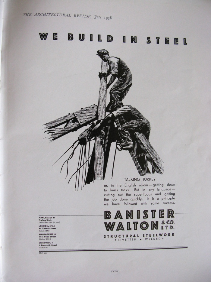 Advert from 1938.  is here paired with its plain cousin, .