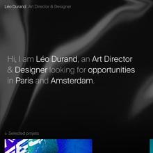 Léo Durand portfolio website