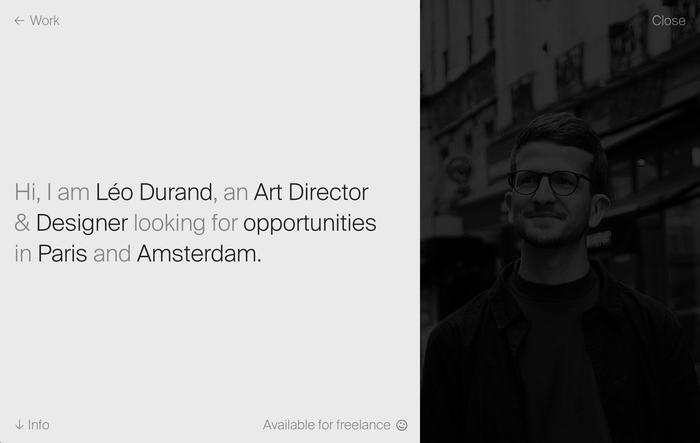 Léo Durand portfolio website 3