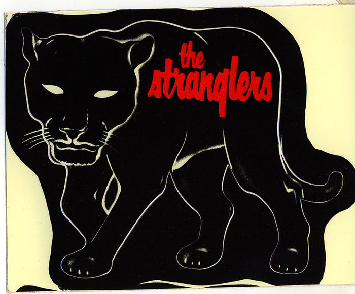 Promo sticker for the Feline album (Epic, 1982, art direction by Nick Marchant).