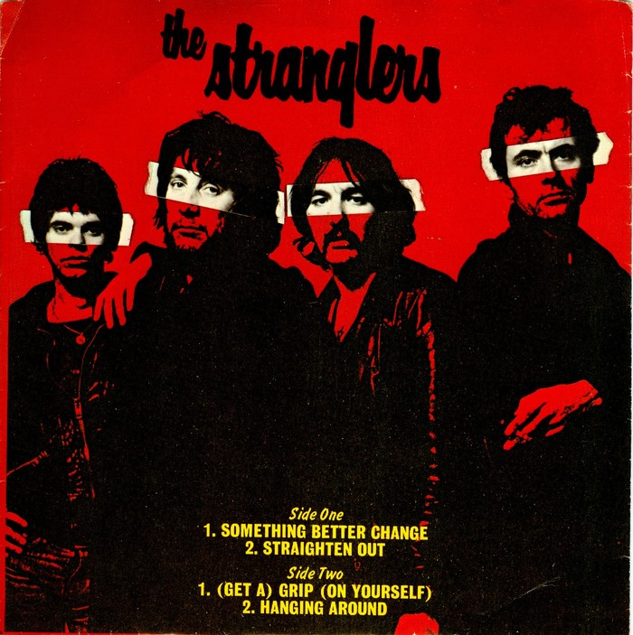 Something Better Change EP, A&M Records (USA, Nov. 1977). The track list uses all-caps  with headings in .