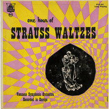 The Viennese Symphonic Orchestra – <cite>One Hour Of Strauss Waltzes </cite>album art