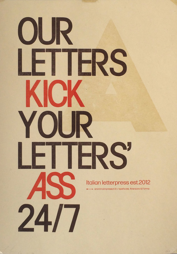 """""""Our Letters Kick Your Letters' Ass 24/7"""" poster 1"""