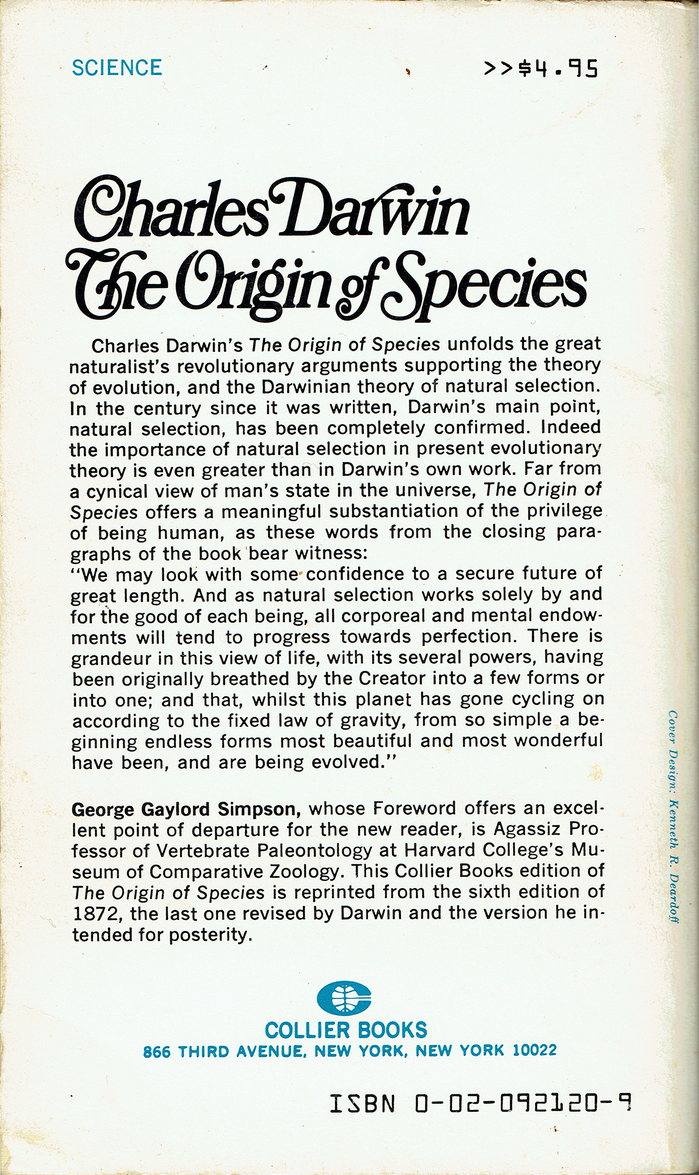 Charles Darwin – The Origin of Species (Collier Books) 2