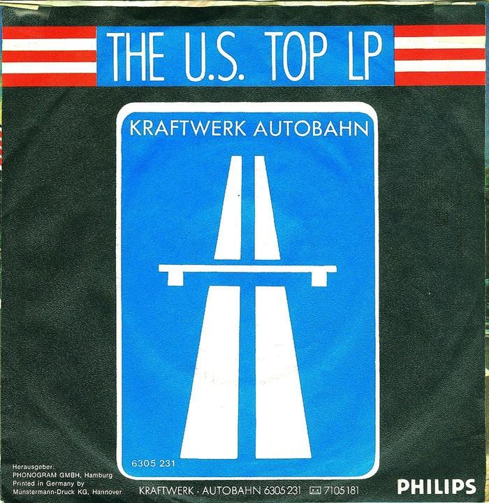 """Kraftwerk – """"Autobahn"""" / """"Morgenspaziergang"""" German single sleeve 2"""