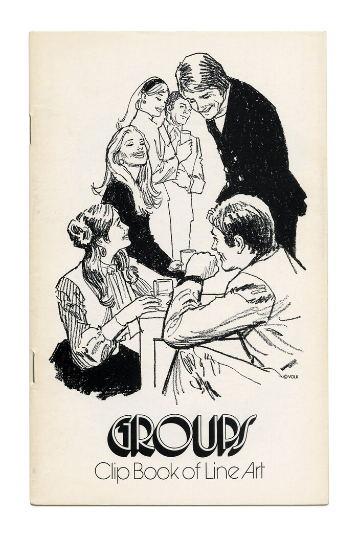 """""""Groups"""" (No. 567) ft. , designed by  (, 1970). Illustration by Tom Sawyer."""