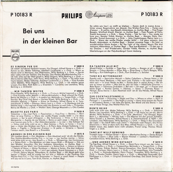 The back cover of the record is set in Futura and Futura Condensed (used on the catalog numbers).