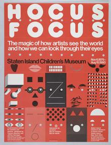 <cite>Hocus Focus</cite> exhibition poster