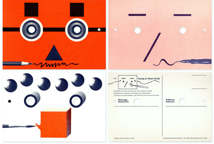 Postcards designed for the exhibition.