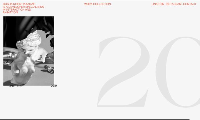 Gosha Khidzhakadze personal website 4