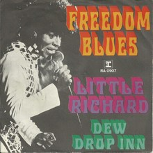 "Little Richard – ""Freedom Blues"" / ""Dew Drop Inn"" German and Dutch single sleeves"