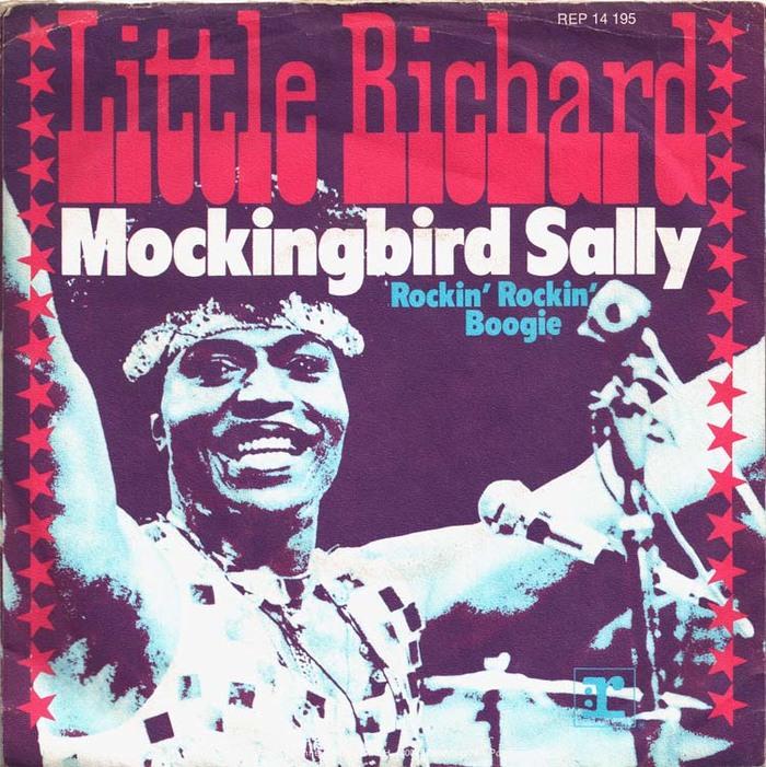 "Little Richard – ""Mockingbird Sally"" / ""Rockin' Rockin' Boogie"" German single sleeve"