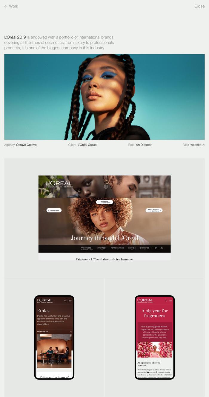 Léo Durand portfolio website 2