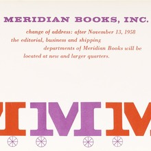 Meridian Books moving notice