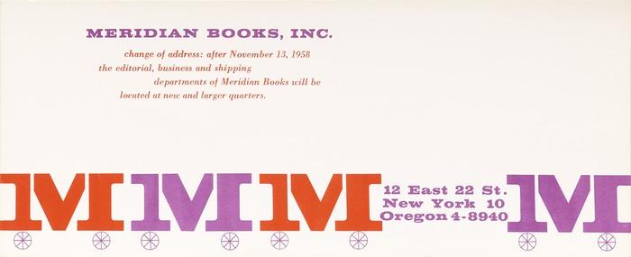 Meridian Books moving notice