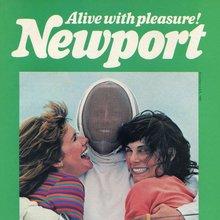 """Alive with pleasure!"" Newport ad"