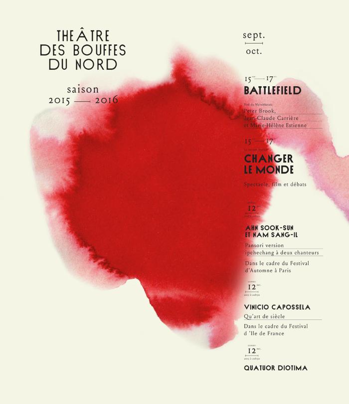 Théâtre des Bouffes du Nord, 2015–16 16