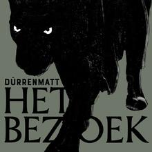 <cite>Het Bezoek</cite> poster, De Roovers &amp; Muziektheater Transparant