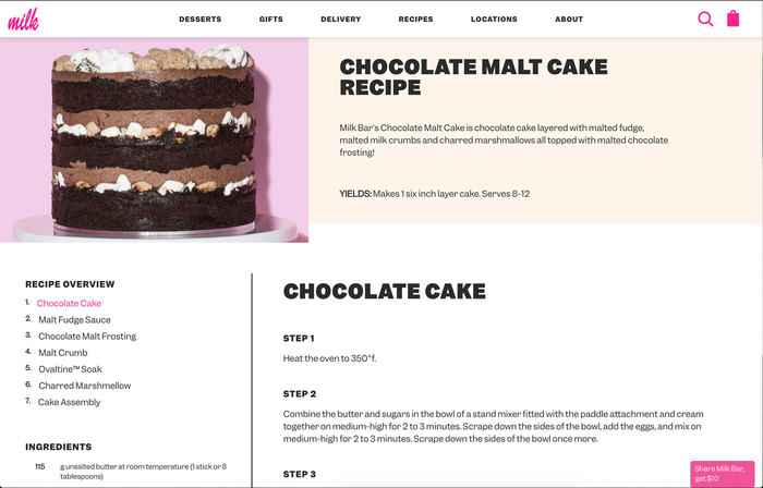 Milk Bar website 3