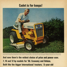 """Cadet is for keeps!"" ad (1966)"