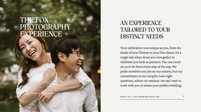 Fox Photography website 5