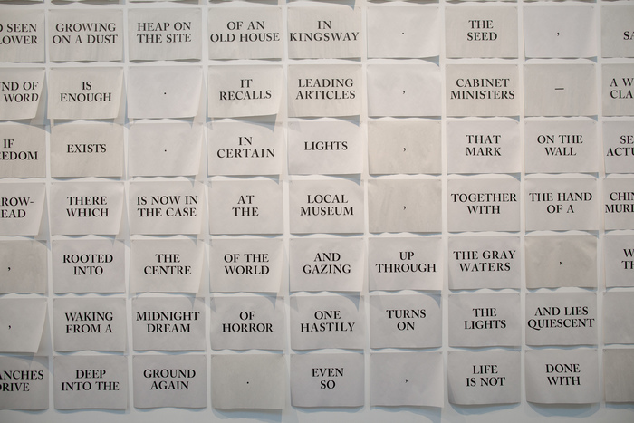 The Mark on the Wall by Virginia Woolf, installation and artist's book 3